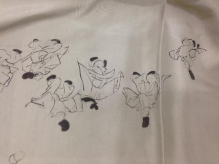 男物の着物の裏とか、袴のたたみ方(出世だたみ)とか。