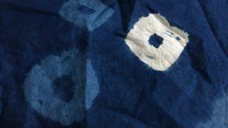 藍染工房見学3 ジャパンブルーのハンカチ