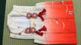 子供の着物のたたみ方 3歳女の子被布